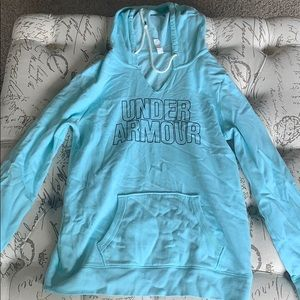 light blue under armour hoodie